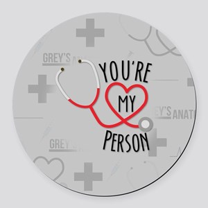 You're My Person Round Car Magnet