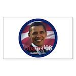 """Obama '08"" Rect Sticker (10)"