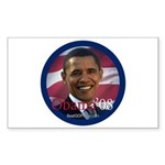 """Obama '08"" Rect Sticker (50)"