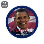 """""""Obama '08"""" 3.5"""" Button (10)"""