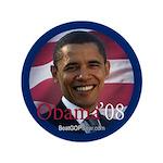 """""""Obama '08"""" 3.5"""" Button (100)"""