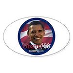 """""""Barack Obama 2008"""" Oval Sticker"""