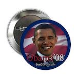 """""""Barack Obama 08"""" 2.25"""" Button (10)"""