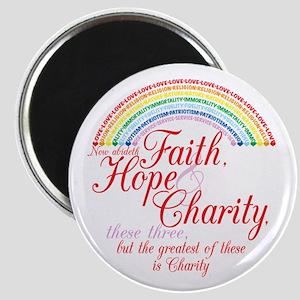 Rainbow For Girls - Faith, Ho Magnet