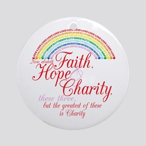Rainbow For Girls - Faith, Ho Ornament (Round)