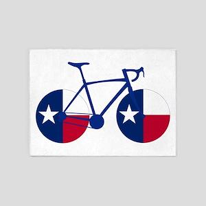 Texas Flag Cycling 5'x7'Area Rug