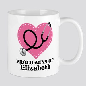 Personalized Aunt Of A Nurse Mugs