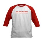 Joe the Plumber Kids Baseball Jersey
