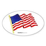 """American Flag"" Oval Sticker (10)"