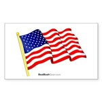 """American Flag"" Rect Sticker (10)"