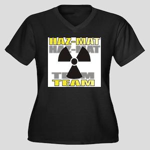 HAZ-MAT Women's Plus Size V-Neck Dark T-Shirt