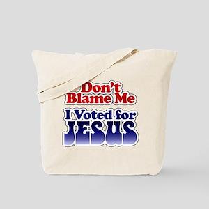 I Voted Jesus Tote Bag
