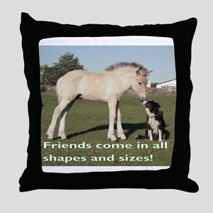 Fjord Horse Friends Throw Pillow