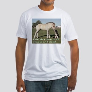 Fjord Horse Friends Fitted T-Shirt