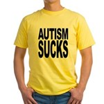 Autism Sucks Yellow T-Shirt
