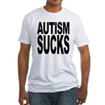 Autism Sucks Fitted T-Shirt