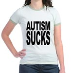 Autism Sucks Jr. Ringer T-Shirt