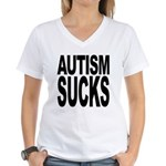 Autism Sucks Women's V-Neck T-Shirt