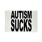 Autism Sucks Rectangle Magnet (100 pack)