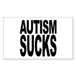 Autism Sucks Rectangle Sticker 10 pk)