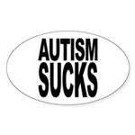 Autism Sucks Oval Sticker (50 pk)