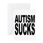 Autism Sucks Greeting Card