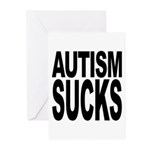 Autism Sucks Greeting Cards (Pk of 20)