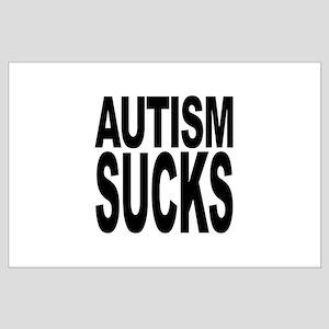 Autism Sucks Large Poster