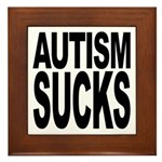 Autism Sucks Framed Tile
