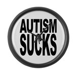 Autism Sucks Large Wall Clock