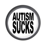 Autism Sucks Wall Clock