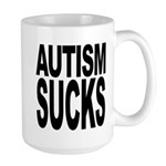 Autism Sucks Large Mug