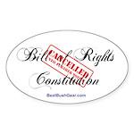 """Bill Cancelled"" Oval Sticker (50)"