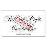 """Bill Cancelled"" Rect Sticker (50)"