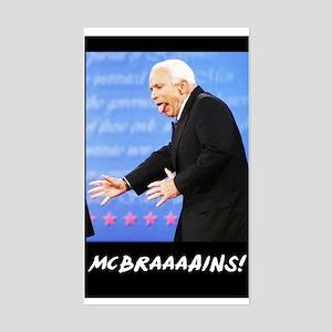 McBraaaains! Rectangle Sticker