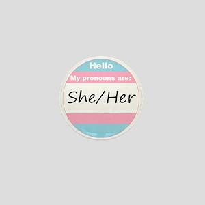 Transgender She/Her Mini Button