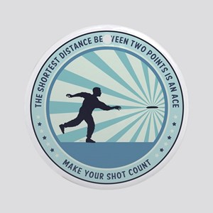 Make Your Shot Count Round Ornament
