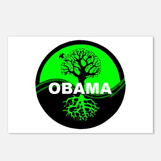 Go Green Obama Postcards (Package of 8)