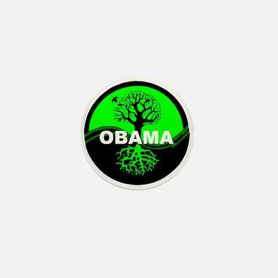 Go Green Obama Mini Button