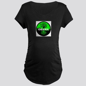 Go Green Obama Maternity Dark T-Shirt