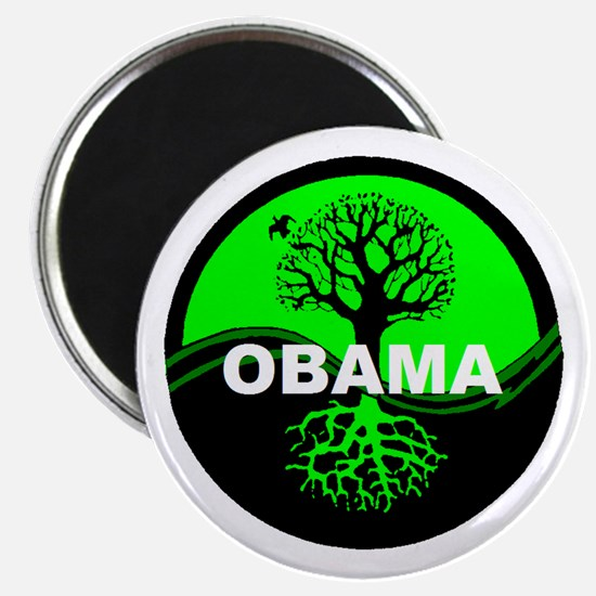 Go Green Obama Magnet