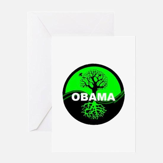 Go Green Obama Greeting Card