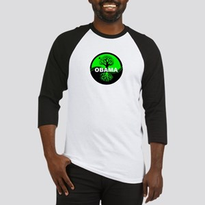 Go Green Obama Baseball Jersey