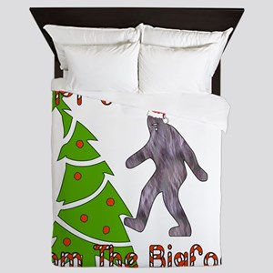 Bigfoot Christmas Queen Duvet