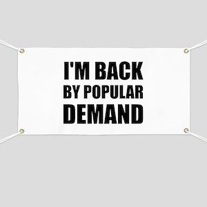 Back By Popular Demand Banner