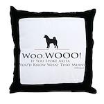 oddFrogg Akita Throw Pillow