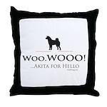 oddFrogg Akita Hello Throw Pillow