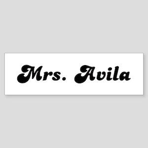 Mrs. Avila Bumper Sticker