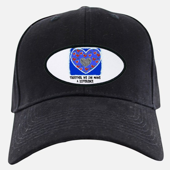 together we can make a difference Black Cap/hat