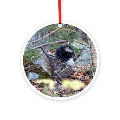 Male Partridge Ornament (Round)